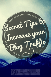 Secret Tips to increase your blog traffic - After two months of blogging, from 0 to 29 000 views - A Broken Backpack