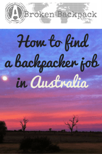 Backpacker Jobs - Top Ten Tips - Job Search Oz