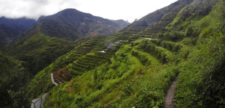 Trekking in Banaue-Batad Rice Terraces, Philippines