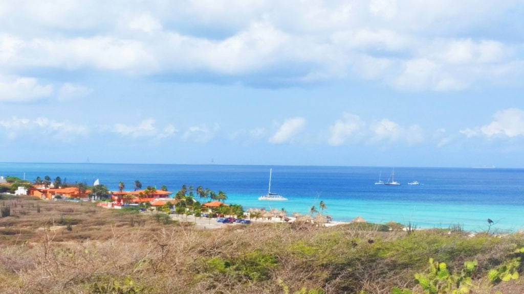View from California Lighthouse in Aruba | Best Itinerary Aruba