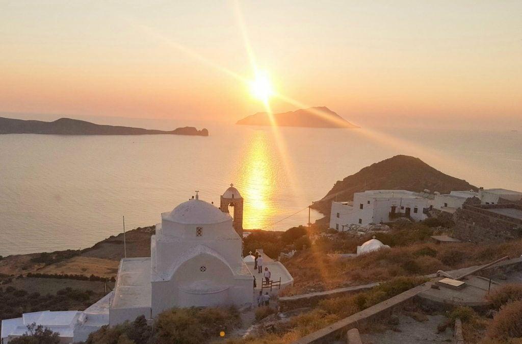 Sunset in Plaka, Milos