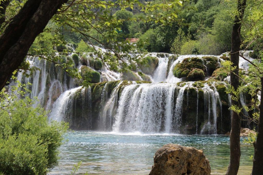 waterfall in croatia europe