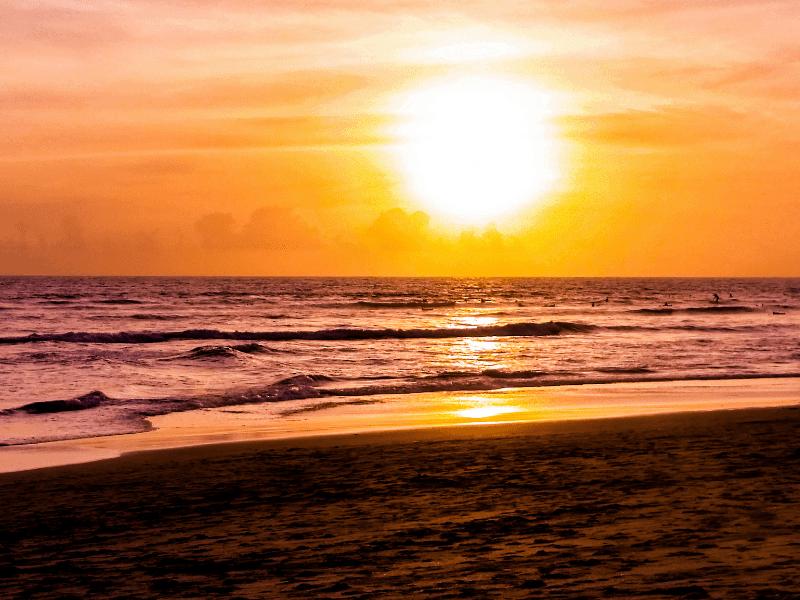 canggu sunset beach