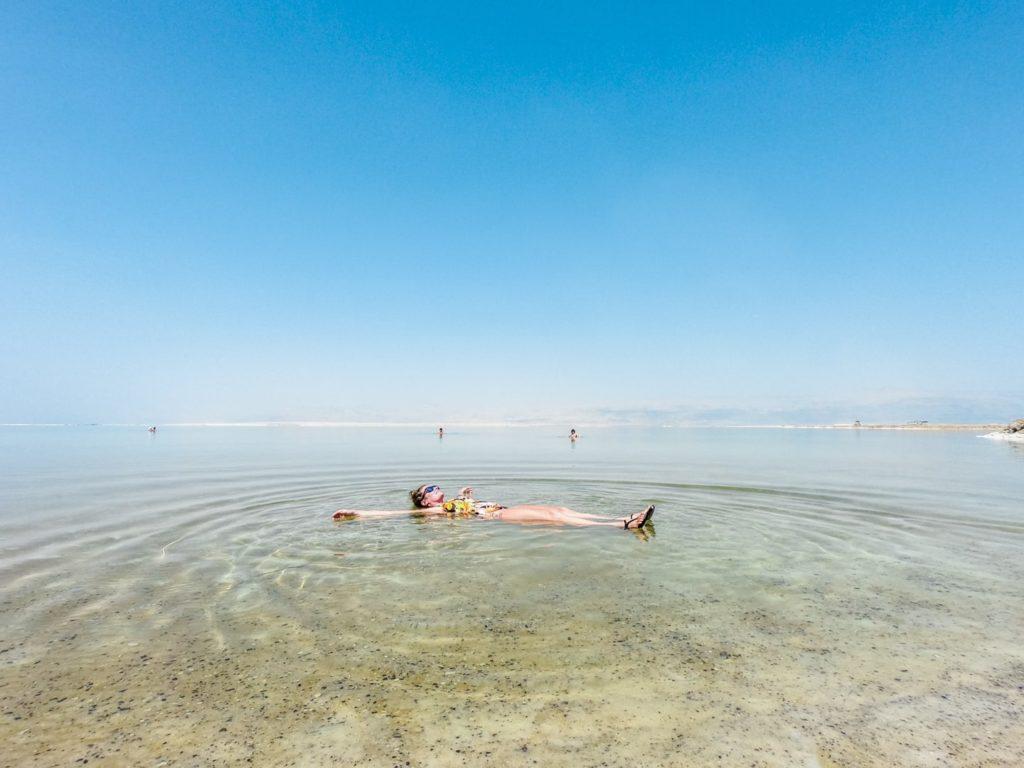dead sea floating people