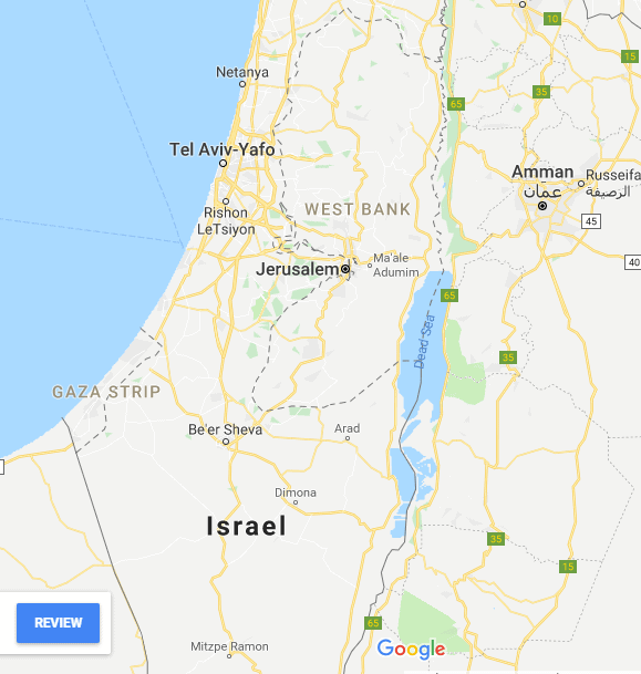 Palestine and israel map