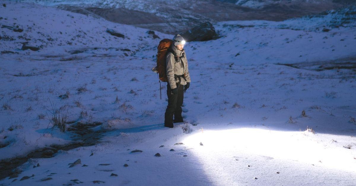 Flashlight for hiking