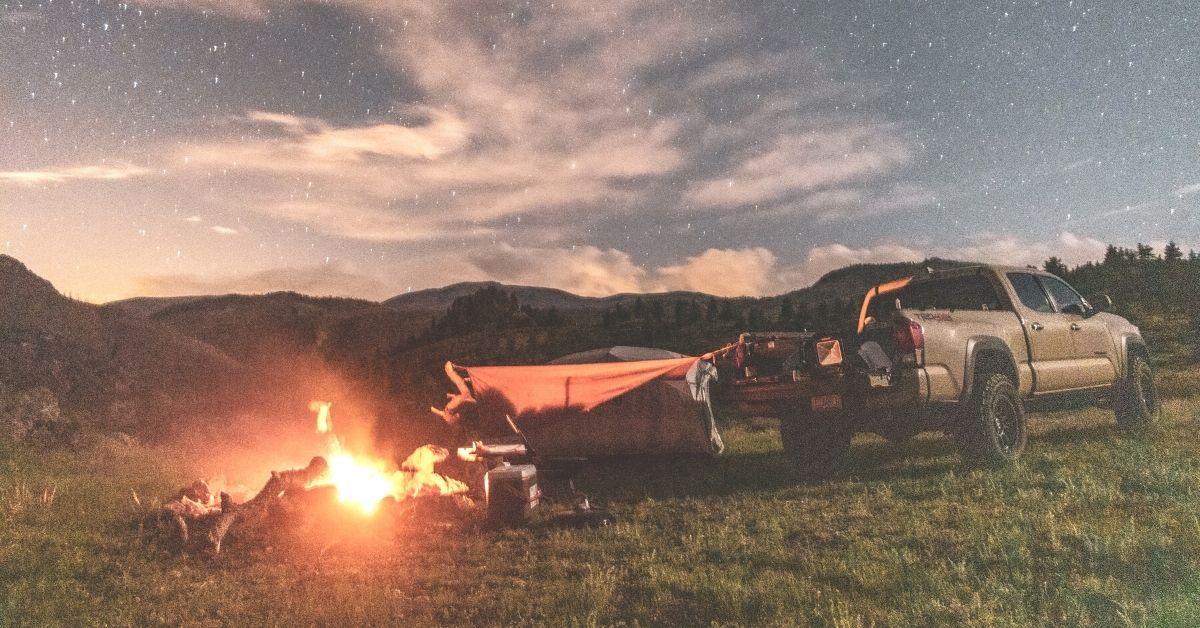 camping in pickup